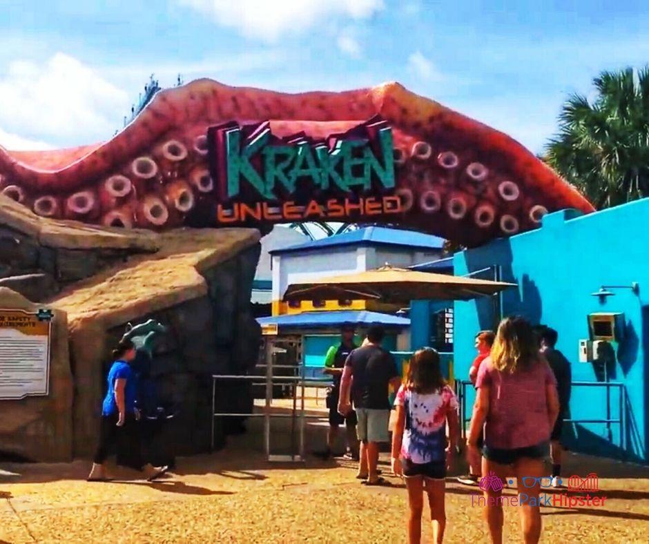 Kraken Roller Coaster Entrance
