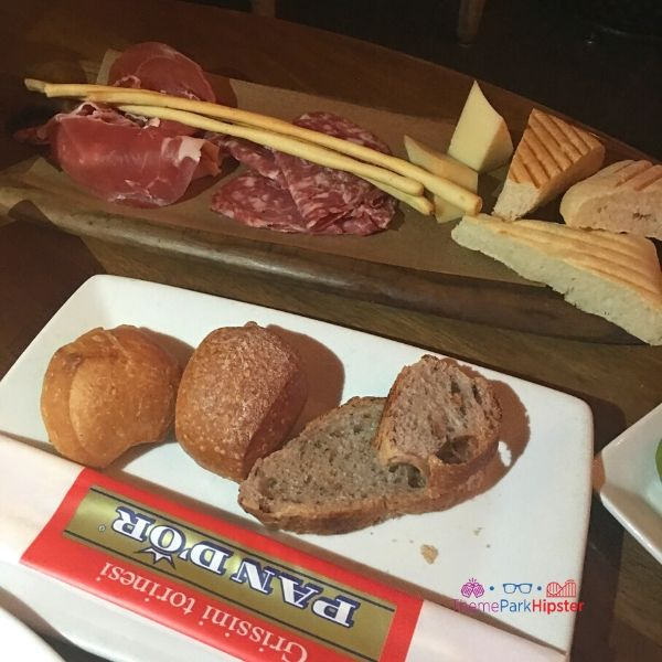 Tutto Gusto Wine Cellar in Italy Pavilion at Epcot Charcuterie Board