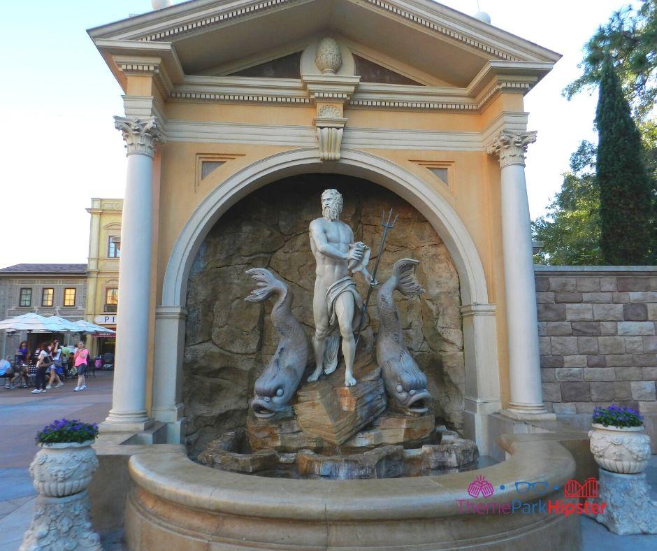 Epcot Italy Pavilion Neptune God Statue