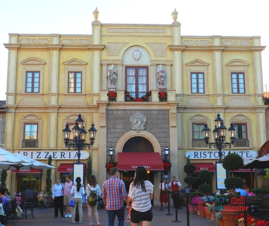 Epcot Italy Pavilion Via Napoli Pizzeria Ristorante Entrance
