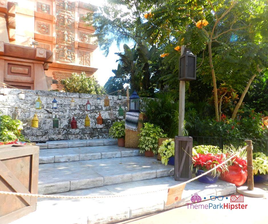 Epcot Mexico Pavilion steps