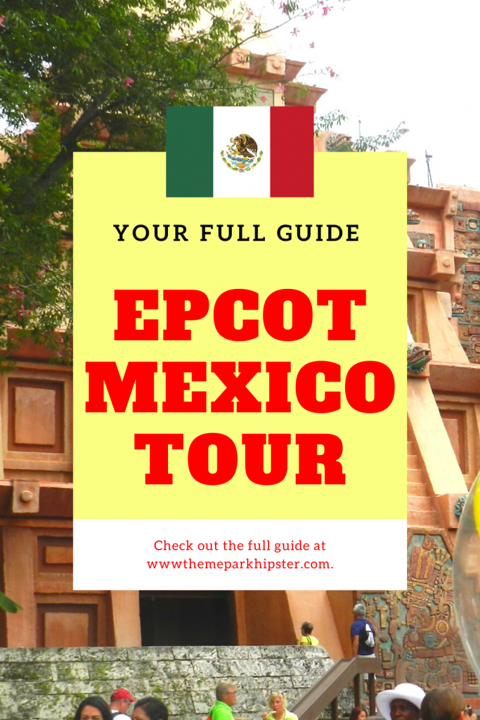 Epcot Mexico Pavilion tour and guide with pyramid in the background