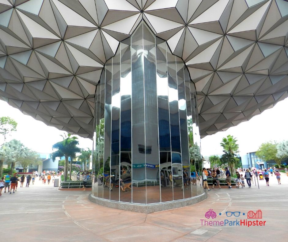 Epcot Spaceship Earth Bottom View with Mirror