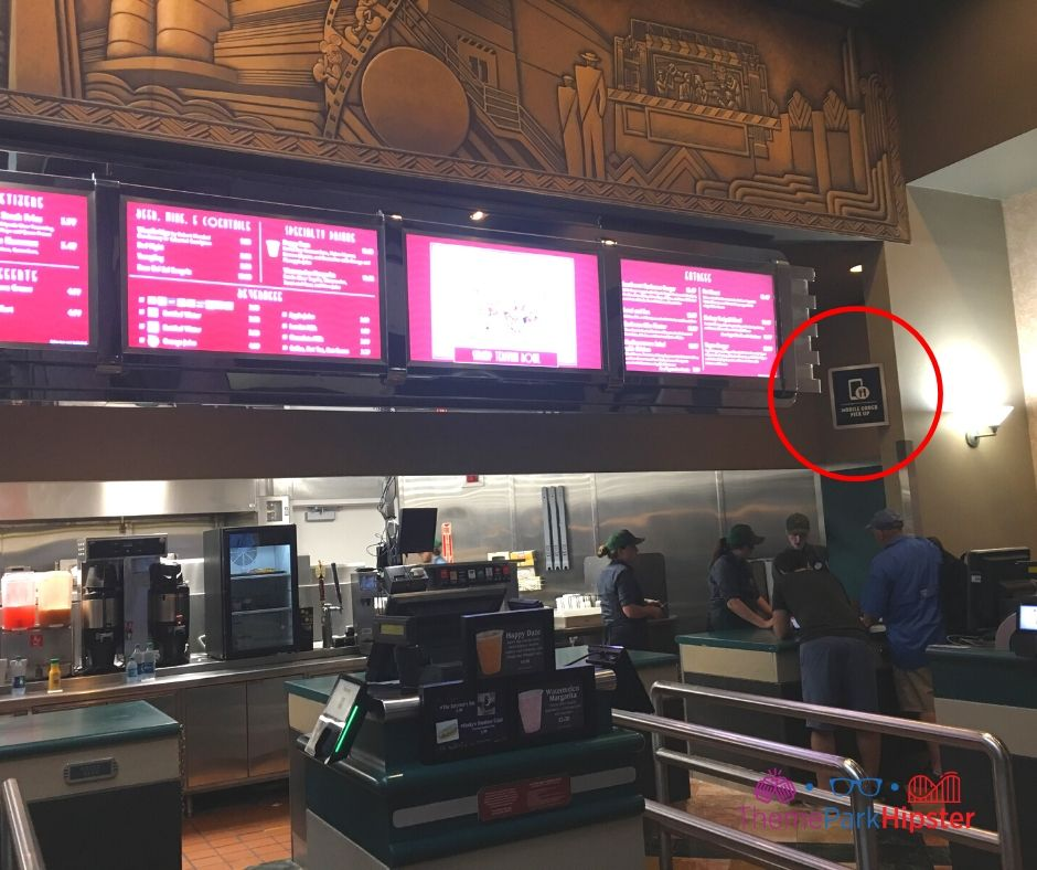 ABC Commissary Hollywood Studios Counter Service and Mobile Ordering