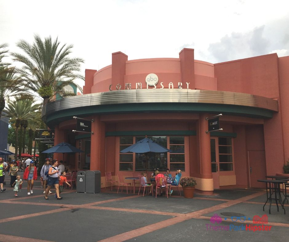 ABC Commissary Hollywood Studios Entrance with outdoor seating