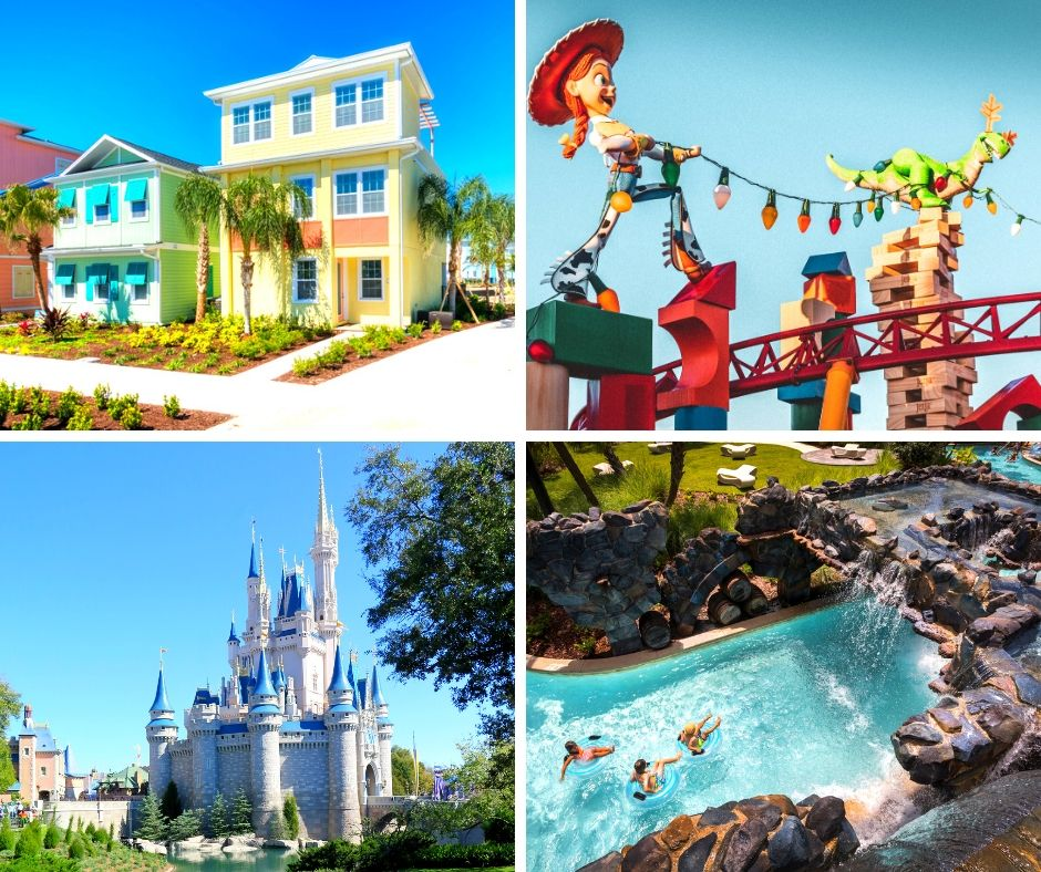 Best Resorts in Orlando That Are Not Disney with Cinderella Castle in the Florida Sun