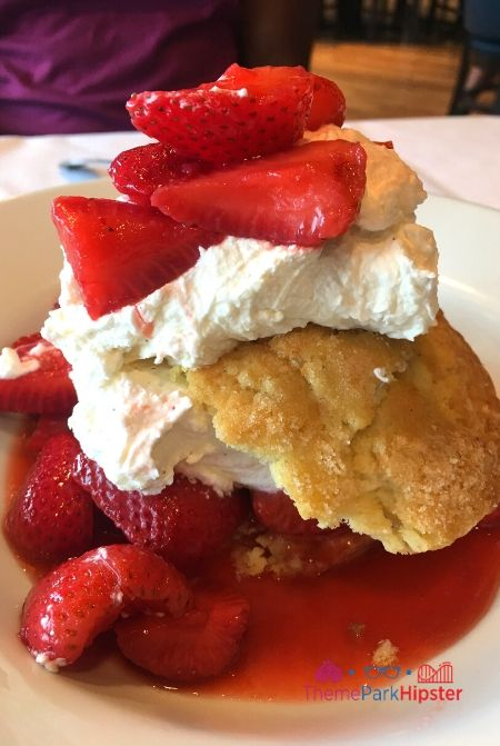 Boathouse at Disney Springs Strawberry Shortcake with Whipped Cream