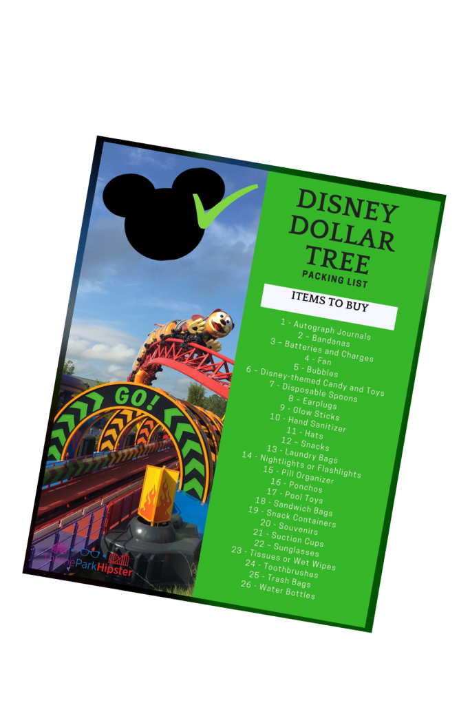 Disney Dollar Tree Packing List Flat Lay