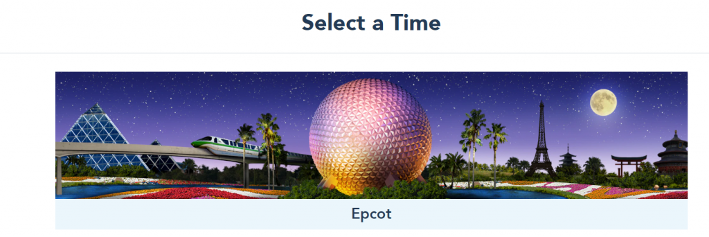 Disney Park Reservations Step Five