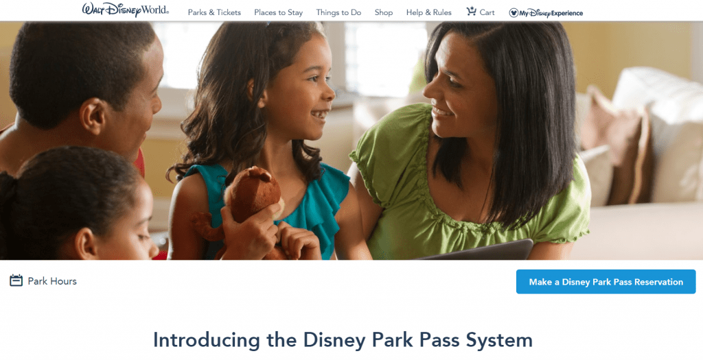 Disney Park Reservations Step One