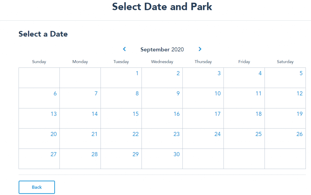 Disney Park Reservations Step Three