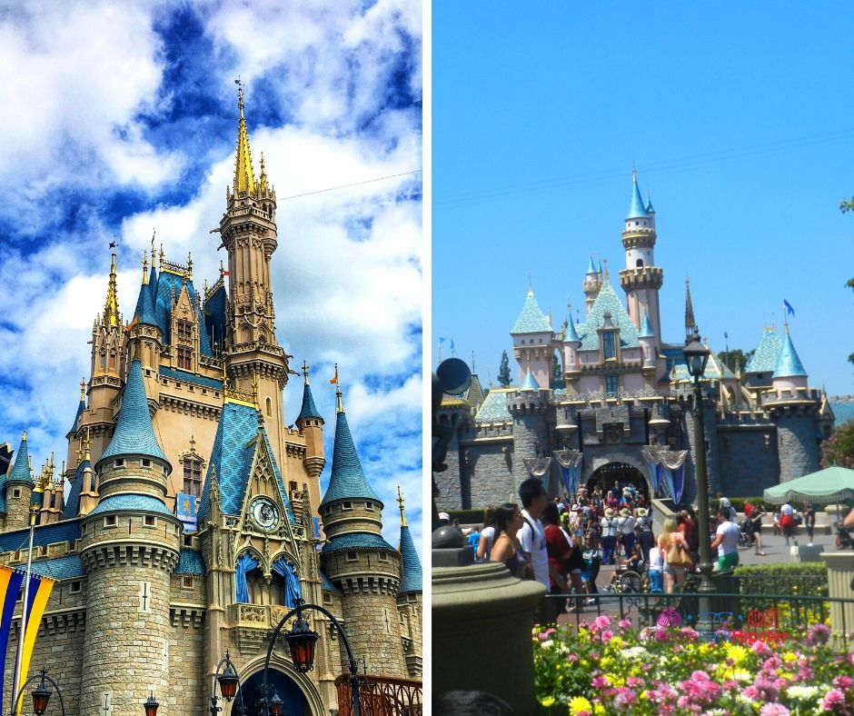Disneyland vs Disney World Castles