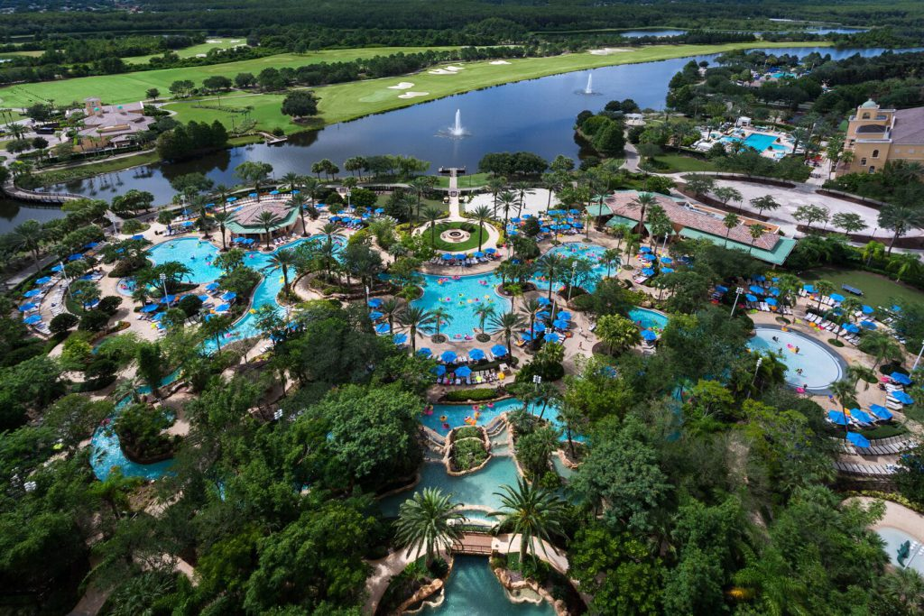 Lazy River and Pool at JW Marriott Orlando Grande Lakes
