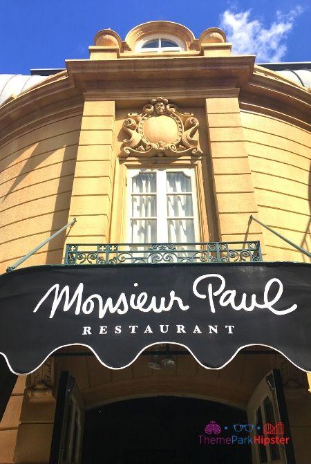 Monsieur Paul at Epcot Exterior Front Entrance