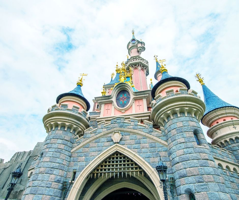 Pink Sleeping Beauty Castle at Disneyland Paris