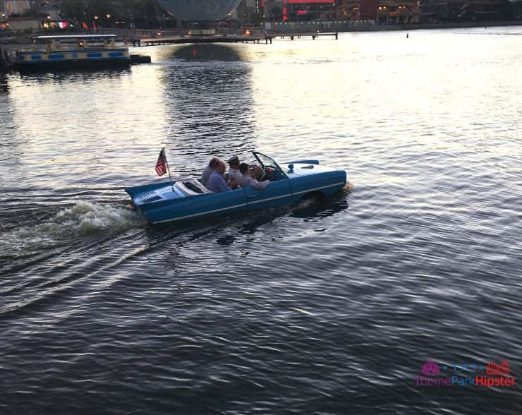 Disney Springs Restaurant Orlando Amphicar in Water