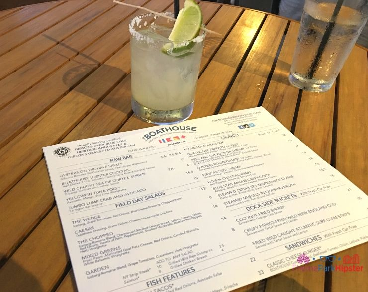 The Boathouse Orlando Margarita and Menu