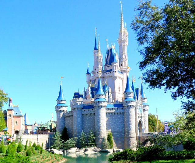 Walt Disney World for Adults with Cinderella Castle in the Florida Sun