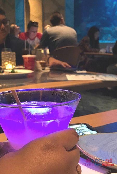 Living Seas restaurant at Disney Purple Cocktail