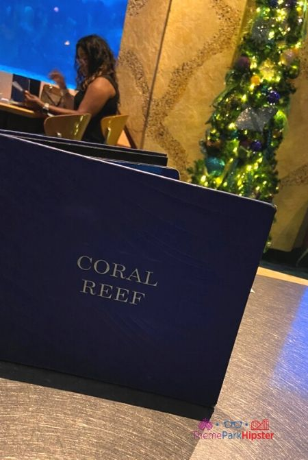 Coral Reef Restaurant at Disney in Christmas decor
