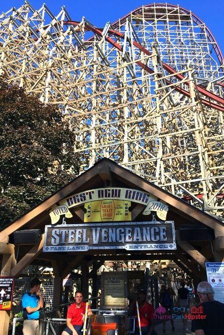 Steel Vengeance Roller Coaster Cedar Point Entrance