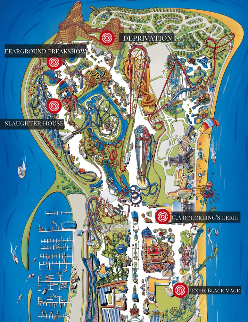 Cedar Point Halloweekends Map 2021 Mazes