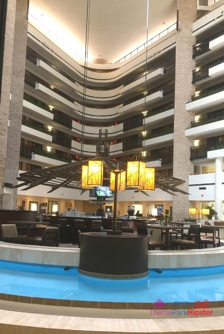 Embassy Suites I Drive 360 Orlando Lobby Breakfast and Happy Hour Area