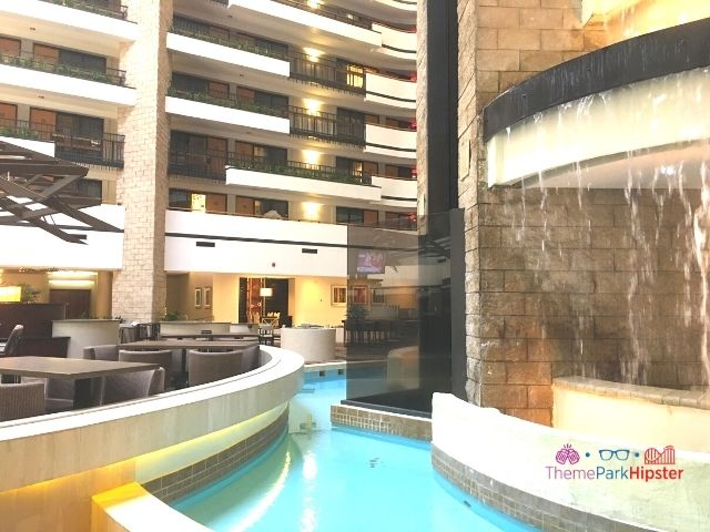 Embassy Suites Orlando Jamaican Court Lobby Area with Water Fall