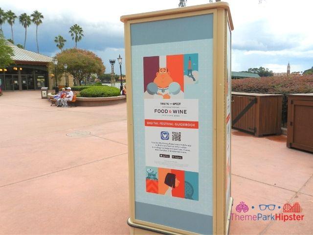 Epcot Food and Wine Festival virtual menu passport scanner