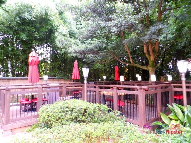Epcot Japan Pavilion quite seating area