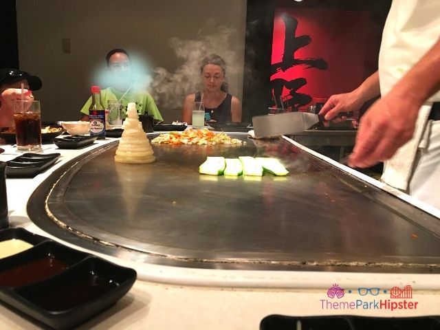 Epcot Japanese Restaurant Teppan Edo chef cooking hibachi