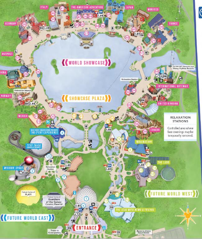 Epcot Map PDF 2020 and 2021