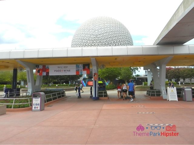 Front Gate and Ticket Booths at Epcot Food and Wine Festival