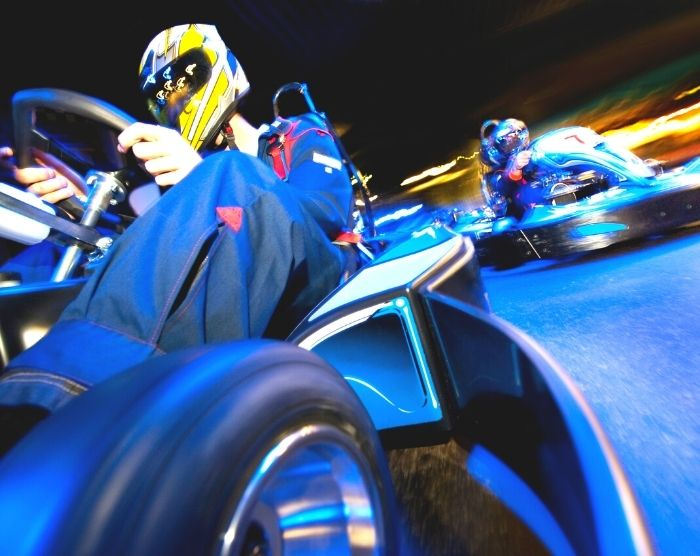 I Drive NASCAR go carts. things to do in Orlando other than Disney.