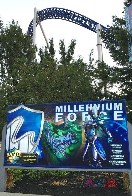 Millennium Force Side Entrance in Sandusky Ohio