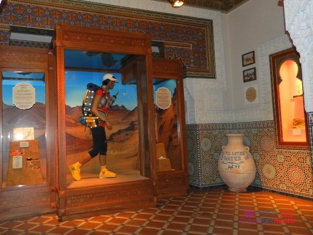 Morocco Pavilion at Epcot Race against the Sun Interior with woman in gear