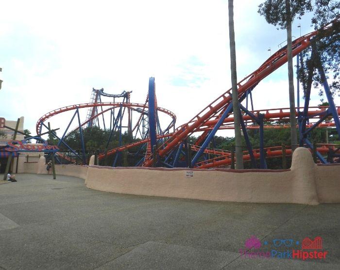 Scorpion Roller Coaster at Busch Gardens Entrance