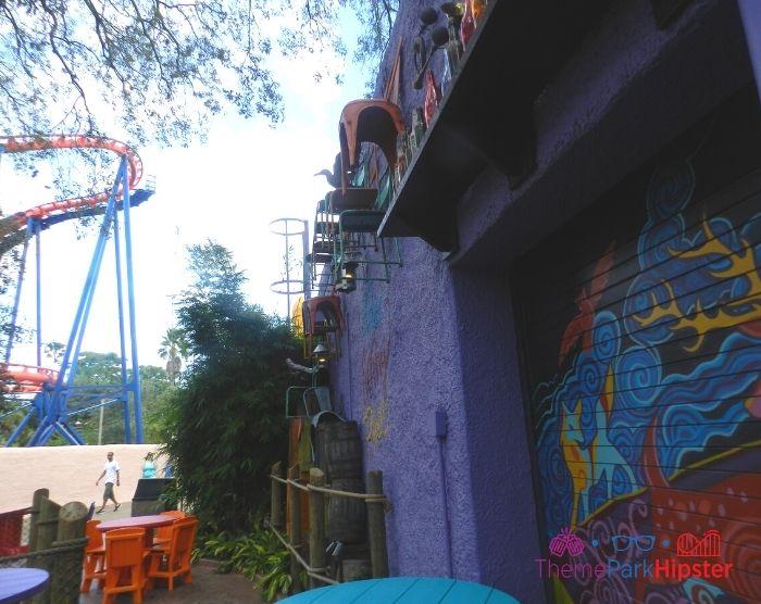 Scorpion Roller Coaster at Busch Gardens Near Eatery