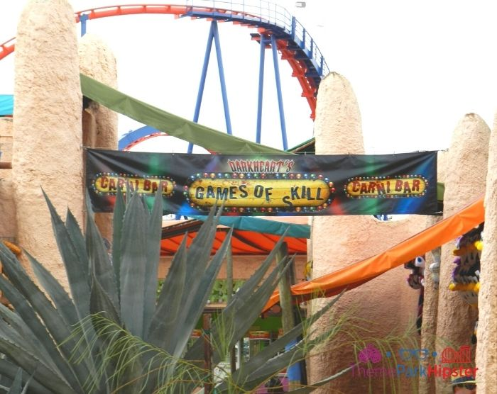 Scorpion Roller Coaster at Busch Gardens Track Curve