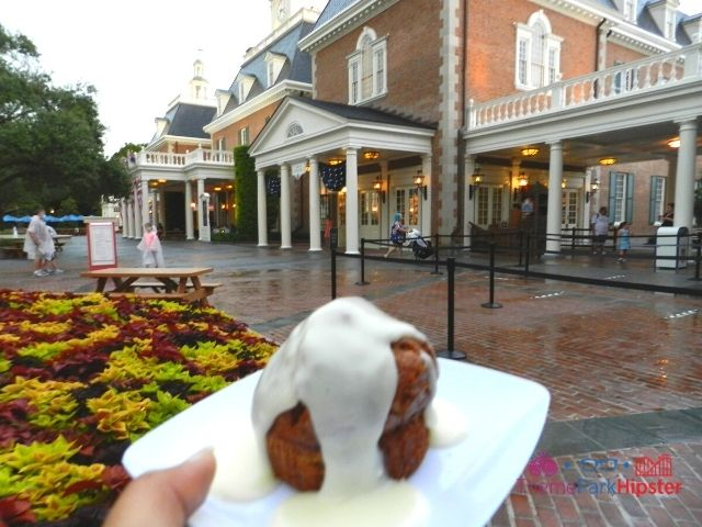 Taste of Epcot Food and Wine American Carrot Cake with running icing on the side