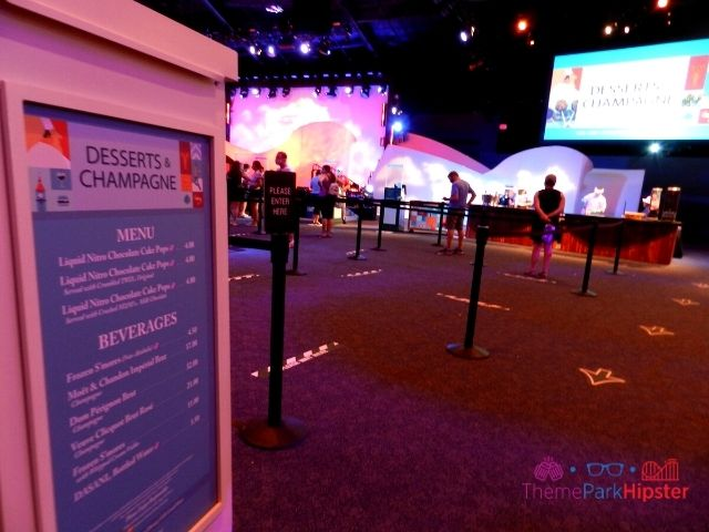 Taste of Epcot Food and Wine World Showplace Desserts and Champagne Booth