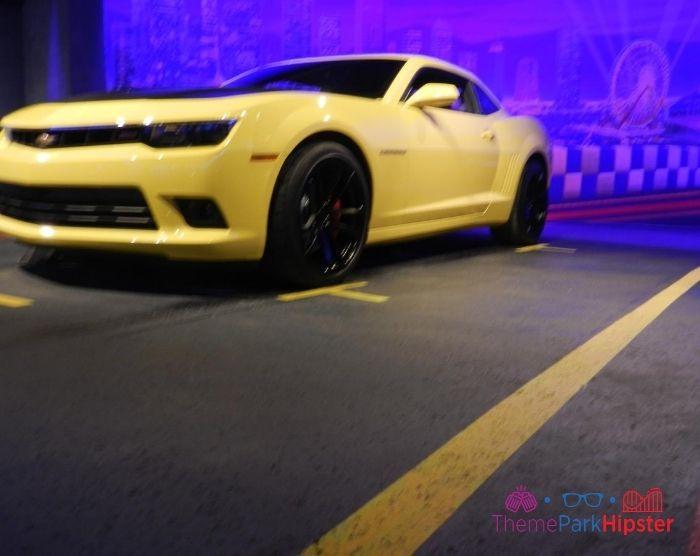 Test Track Yellow Sports Car