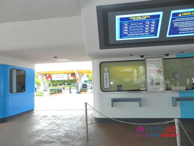 Ticket Booths at Epcot Food and Wine Festival