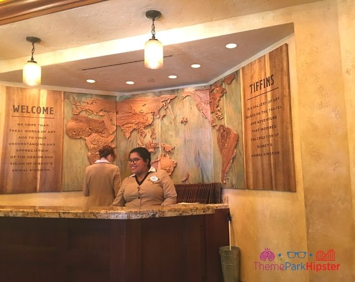 Tiffins Animal Kingdom entrance room with Cast Members