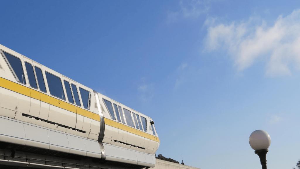 disney monorail yellow vehicle