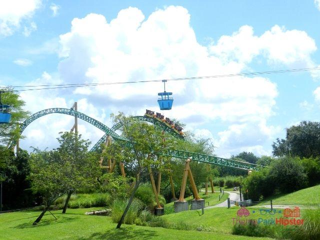 Busch Gardens Skyride with Cheetah Hunt in the background