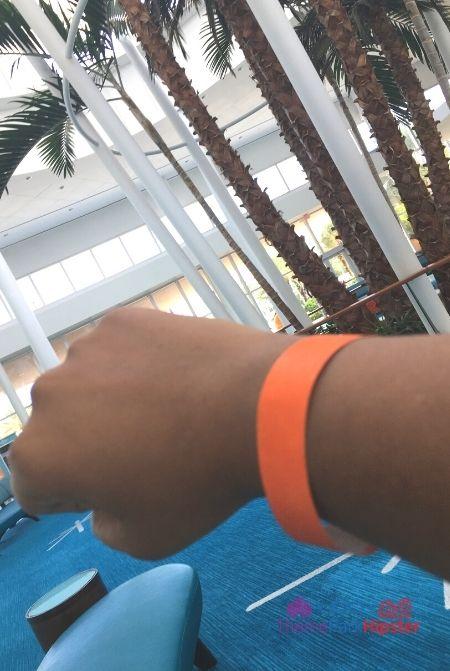 Cabana Bay Beach Resort Orange Armband required for temperature check