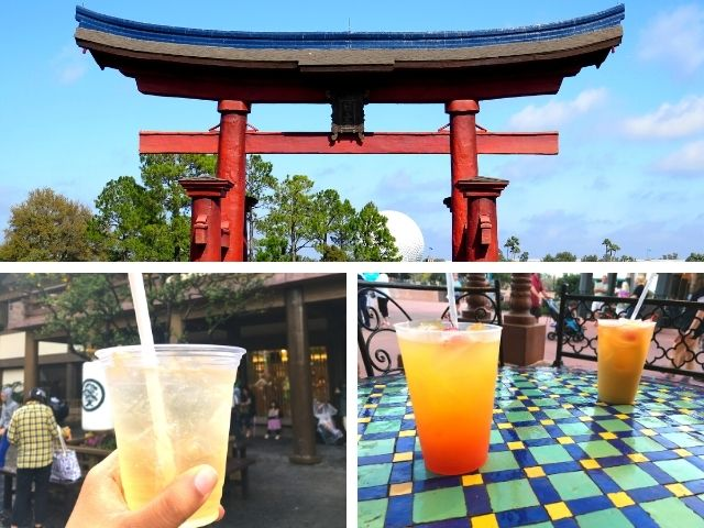 Epcot Bar Crawl with drinks from around World Showcase