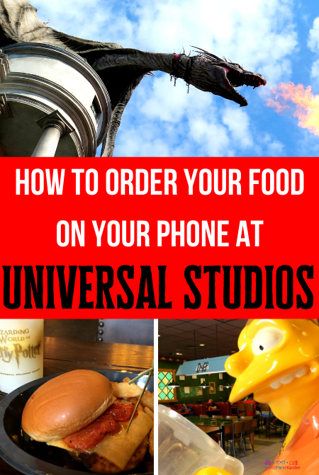 How to order your food on your phone at Universal Studios