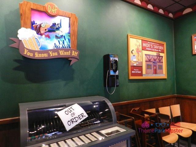 Moe's Tavern Bar Area with Juke Box